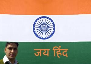 Indian Flag+Nitya tripathi